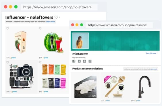 Amazon Influencer Shop